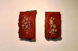 1 Day Per Layer Red(diptych), 2013