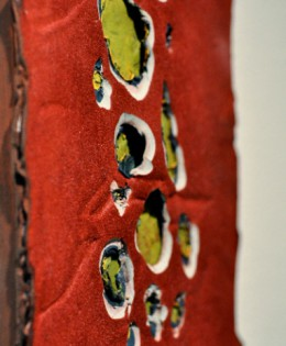 1 Day Per Layer Red (diptych), 2013
